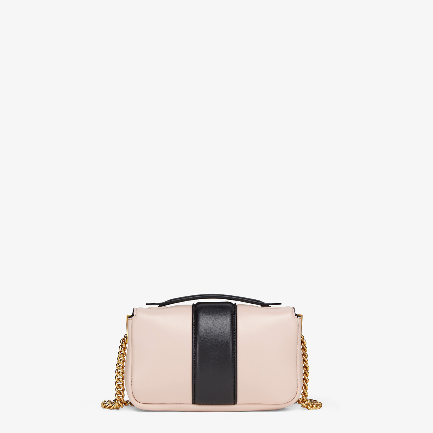 FENDI MINI BAGUETTE CHAIN - Pink and black nappa leather bag - view 3 detail