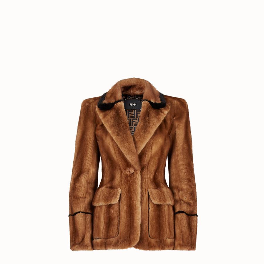 FENDI 재킷 - 브라운 컬러의 퍼 재킷 - view 1 detail