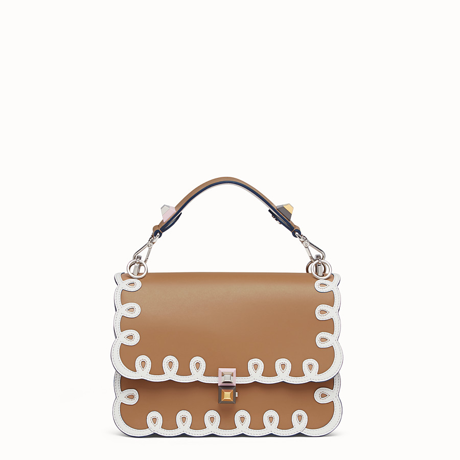 FENDI KAN I - Bag in white and natural-coloured leather - view 1 detail