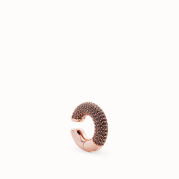 FENDI FENDIOOPS EARRINGS - Rose-gold-coloured earring - view 1 small thumbnail