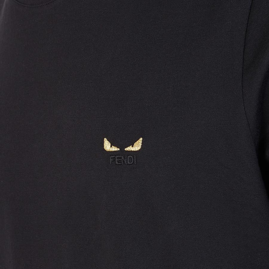 FENDI Tシャツ - ブラックジャージー Tシャツ - view 3 detail