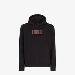 FENDI SWEATSHIRT - Black cotton and cashmere sweatshirt - view 1 thumbnail