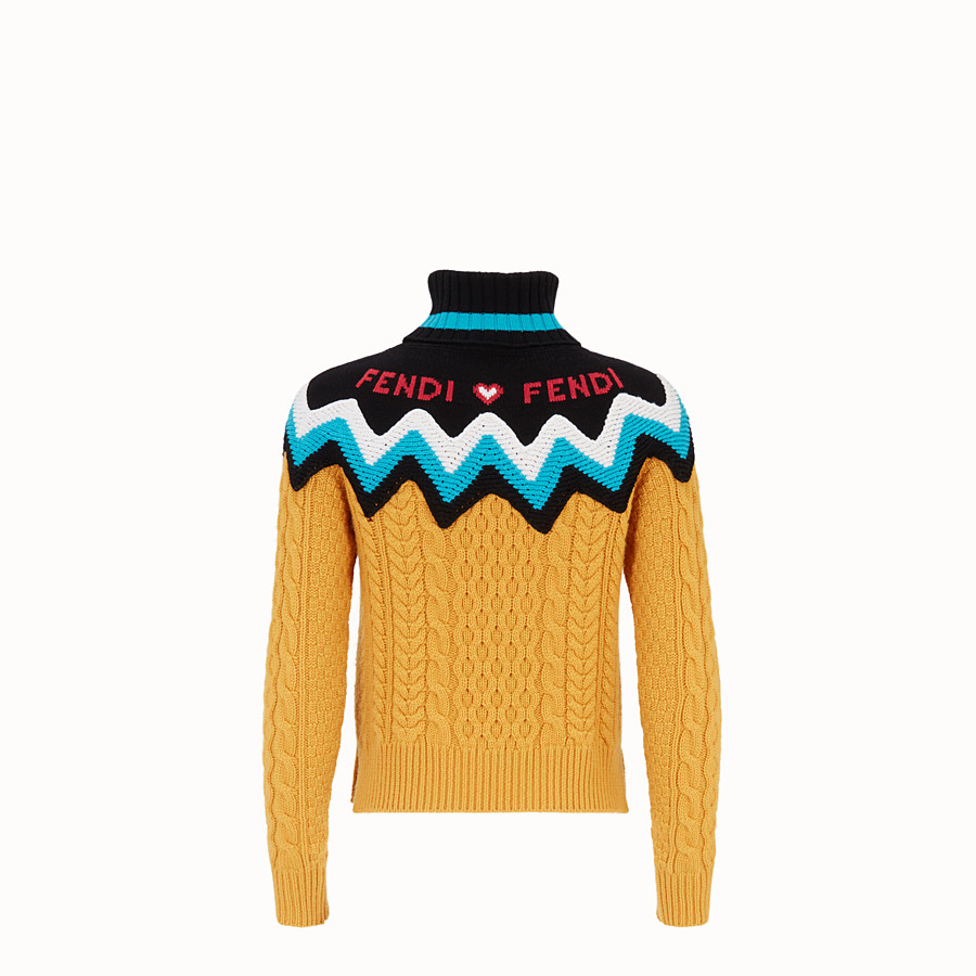 FENDI PULLOVER - Multicolour cashmere jumper - view 2 detail