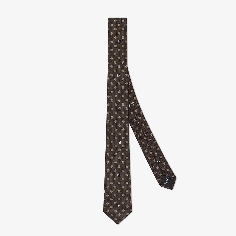 FENDI TIE - Green silk tie - view 1 detail