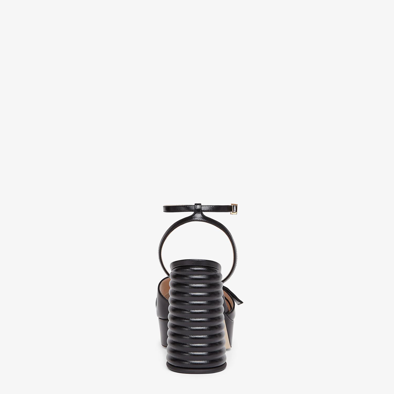 FENDI SANDALS - Black leather Promenade Sandals - view 3 detail