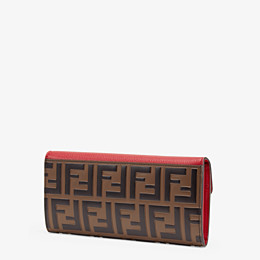 FENDI CONTINENTAL - Red leather wallet - view 2 thumbnail