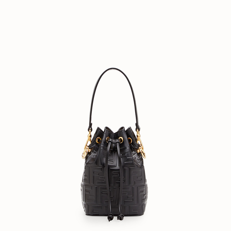 eb5615f49105 Black leather mini-bag - MON TRESOR