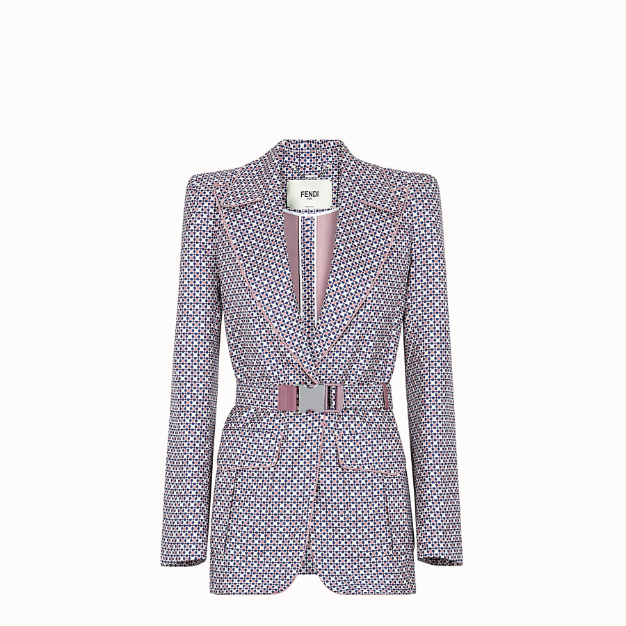 FENDI JACKET - Multicolour silk blazer - view 1 detail