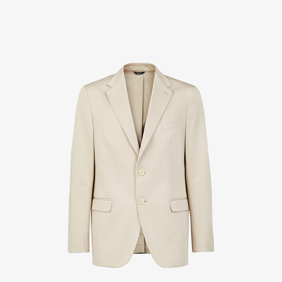 FENDI JACKET - White cotton blazer - view 1 detail