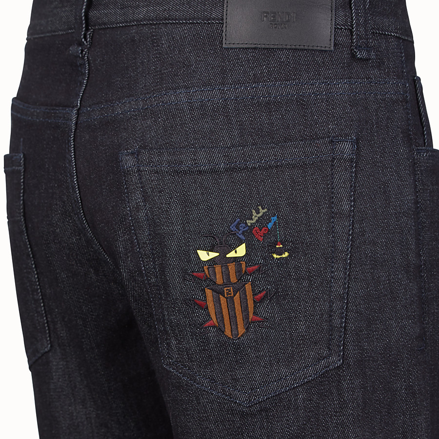 FENDI DENIM - Blue cotton jeans - view 3 detail