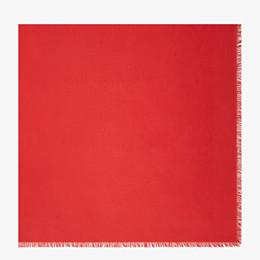 FENDI FF SCHULTERTUCH - Schultertuch aus Seide und Wolle in Rot - view 1 thumbnail