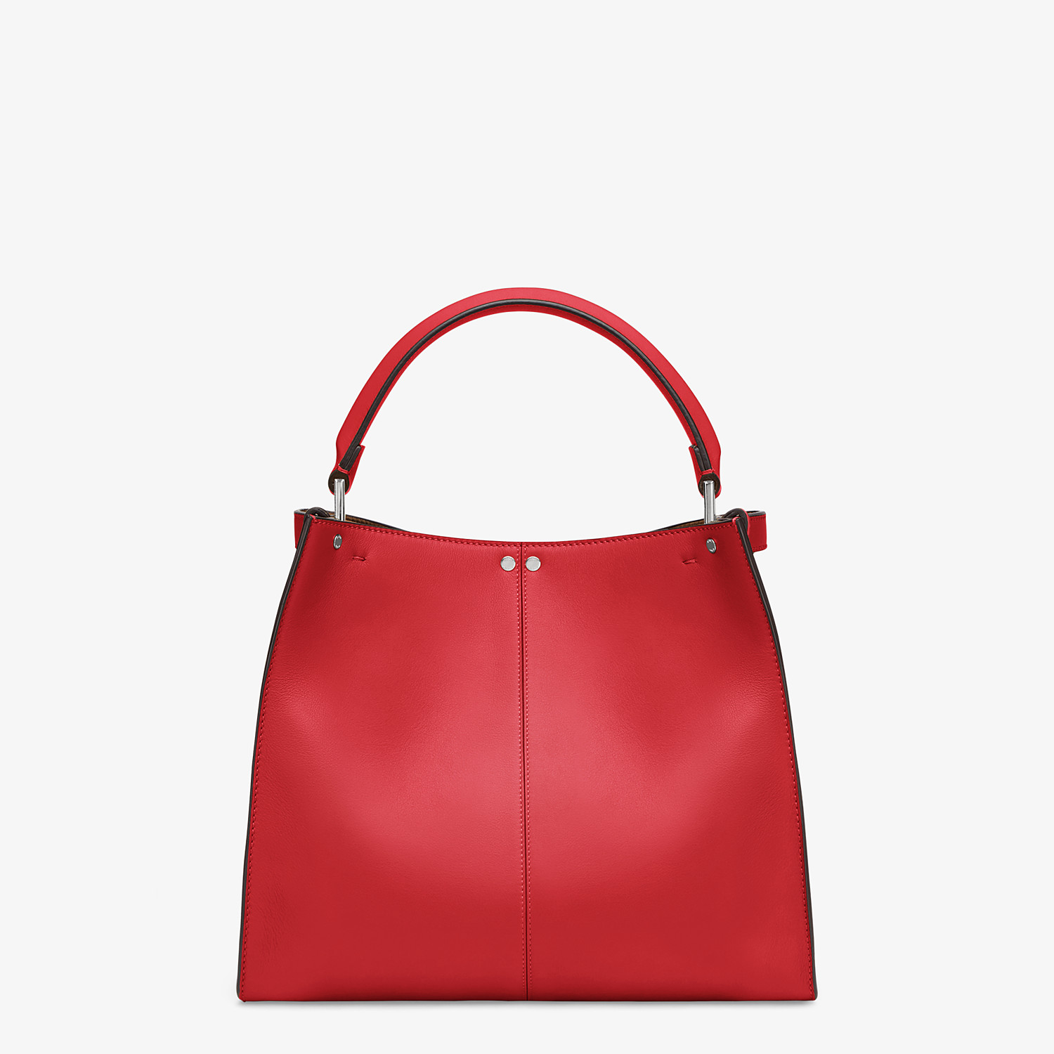 FENDI PEEKABOO X-LITE MEDIUM - Tasche aus Leder in Rot - view 5 detail