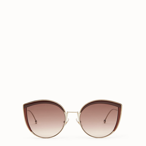 FENDI F IS FENDI - Palladium-colour sunglasses - view 1 small thumbnail