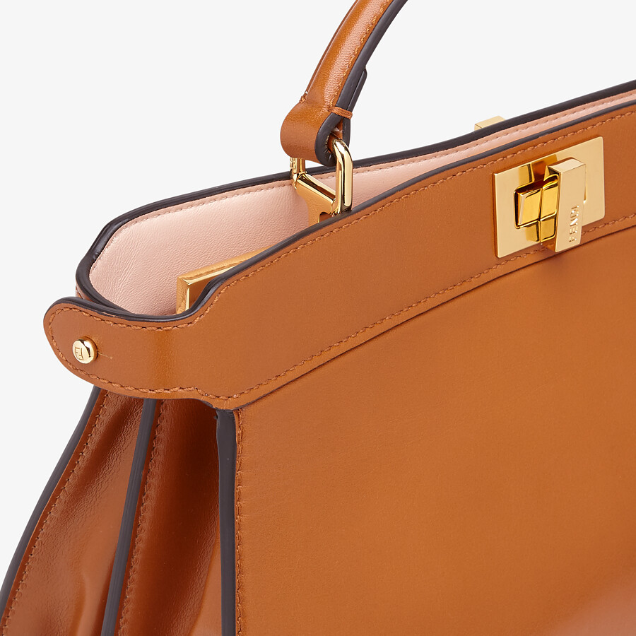 FENDI PEEKABOO ISEEU EAST-WEST - Brown leather bag - view 5 detail