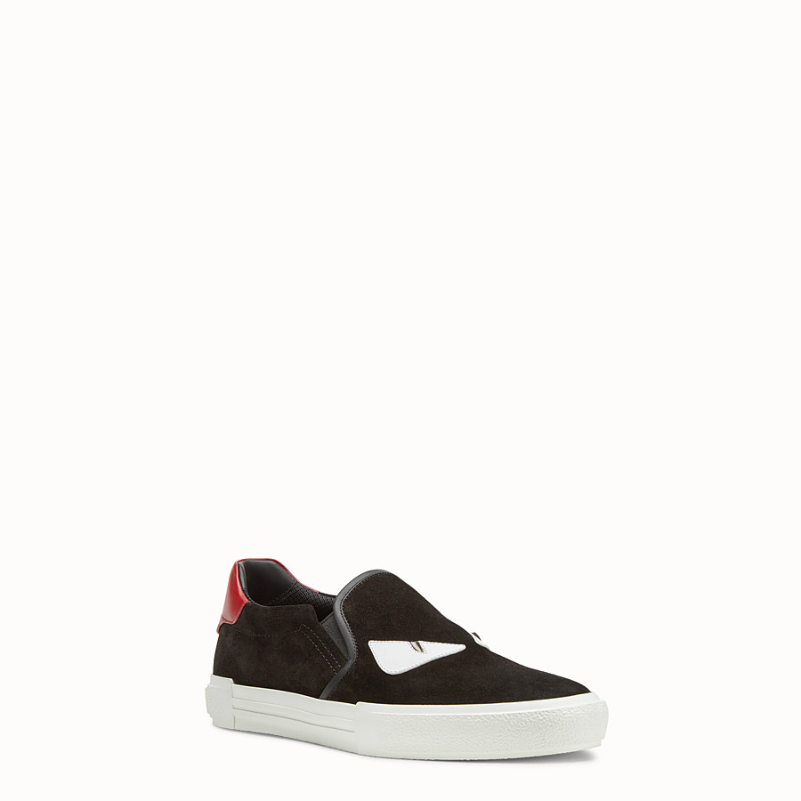 FENDI SNEAKERS - Slip-on en cuir noir - view 2 detail