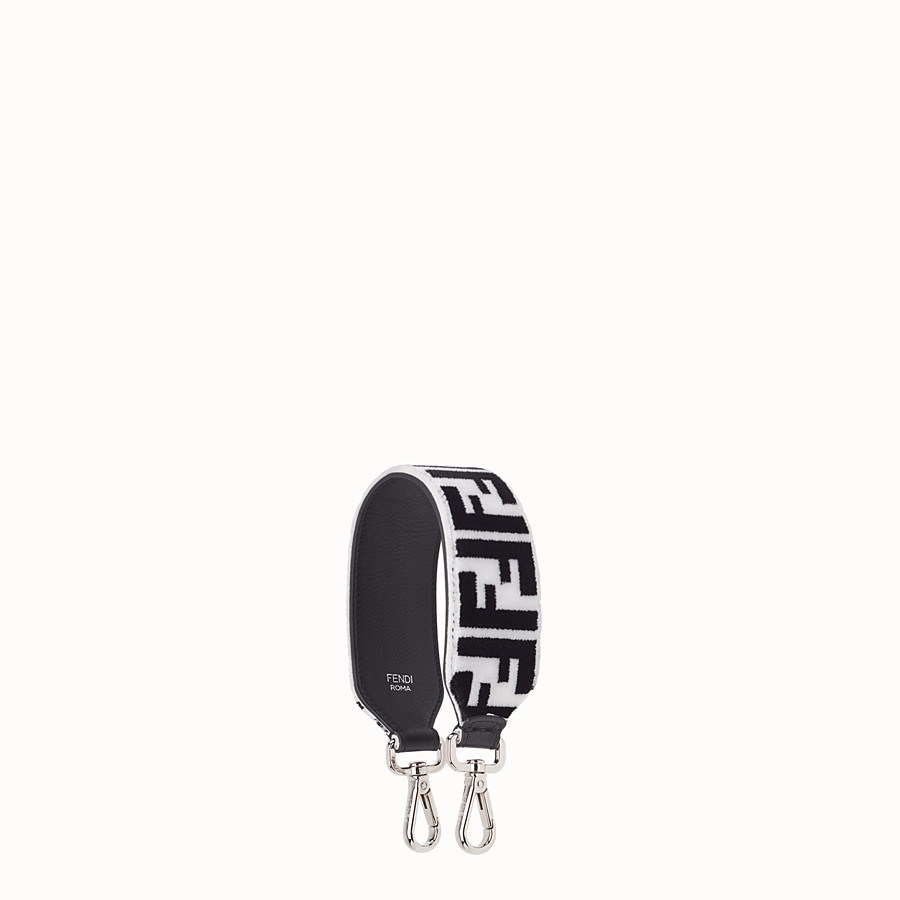 FENDI MINI STRAP YOU - Leather and fabric shoulder strap - view 1 detail
