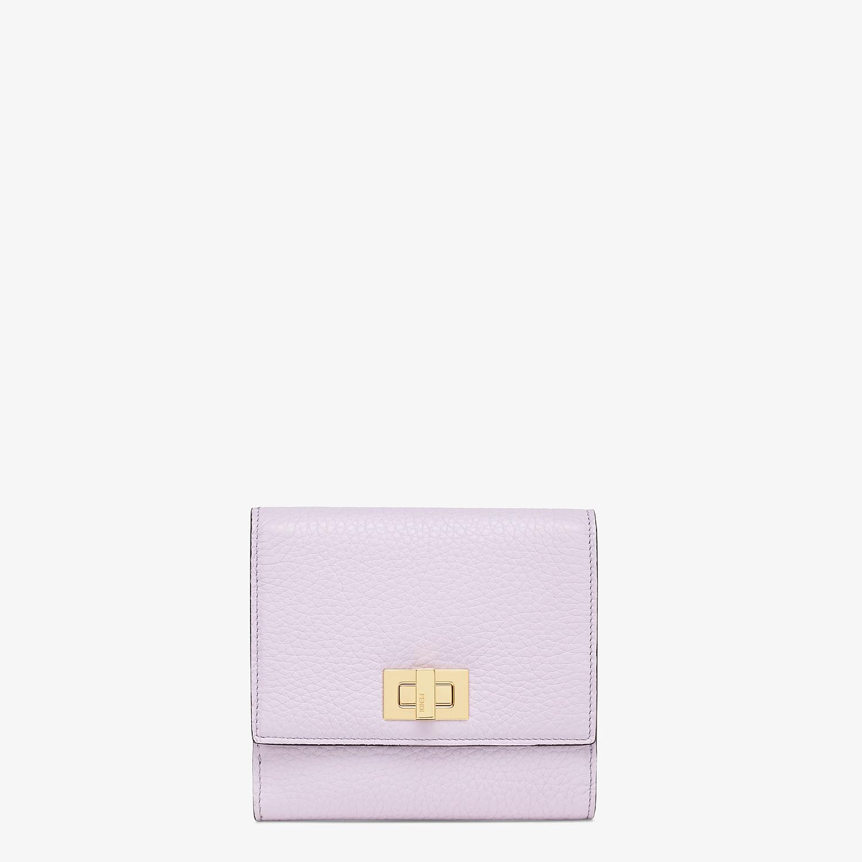 FENDI マイクロ 三つ折り財布 - ライラックレザー 財布 - view 1 detail