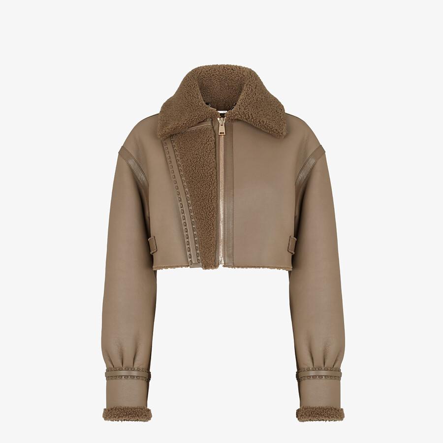 FENDI JACKET - Brown leather jacket - view 1 detail