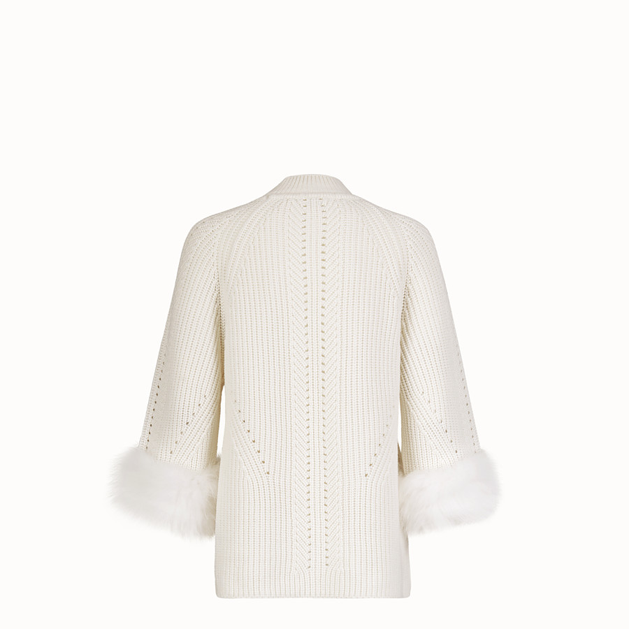 FENDI PULLOVER - White cashmere sweater - view 2 detail