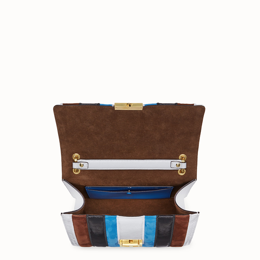 FENDI KAN U - Multicolour leather and suede bag - view 5 detail