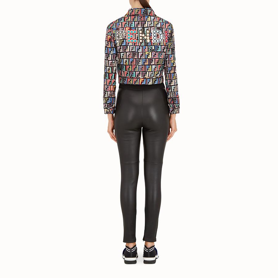 FENDI JACKET - Multicolour jacquard fabric jacket - view 3 detail