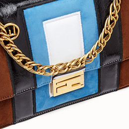 FENDI KAN U - Multicolour leather and suede bag - view 6 thumbnail