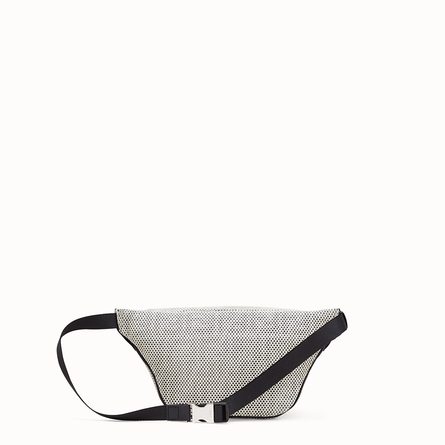 FENDI BELT BAG - White tech fabric belt bag - view 3 detail