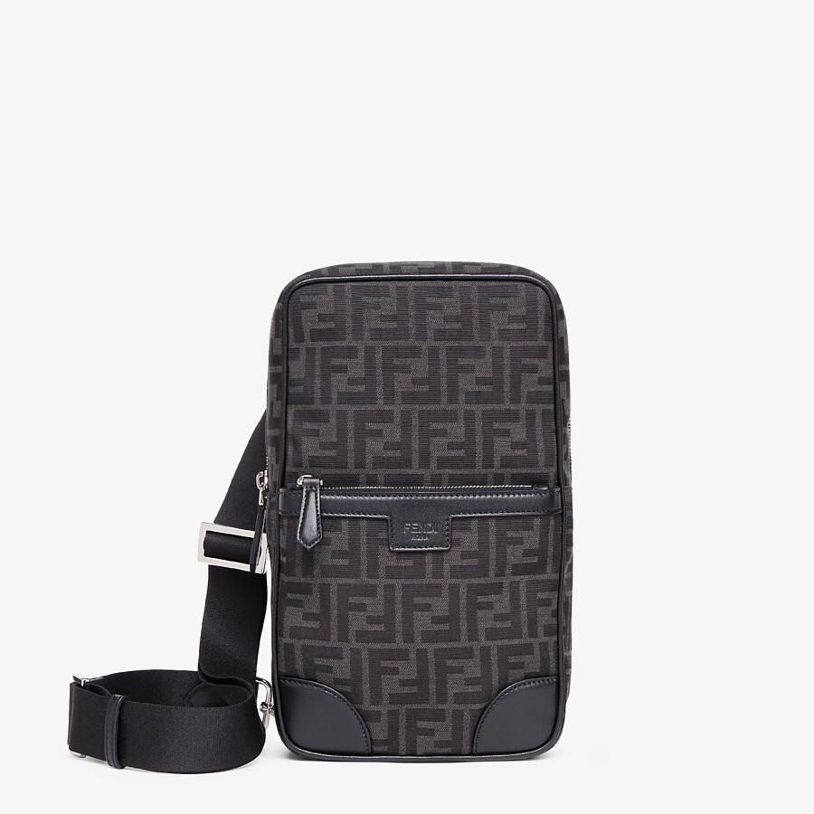 FENDI ONE-SHOULDER TRAVEL BACKPACK - FF jacquard fabric backpack - view 1 detail