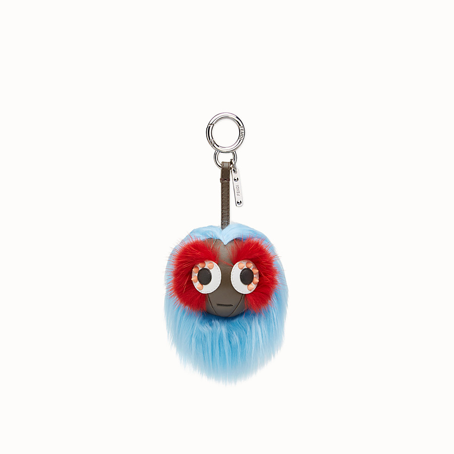 FENDI MINI BAG BUGS CHARM - Charm in multicolour fur - view 2 detail