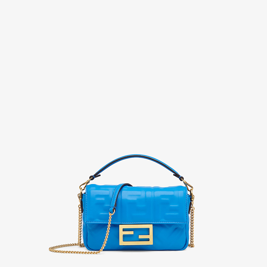 FENDI BAGUETTE - Blue leather minibag - view 1 detail