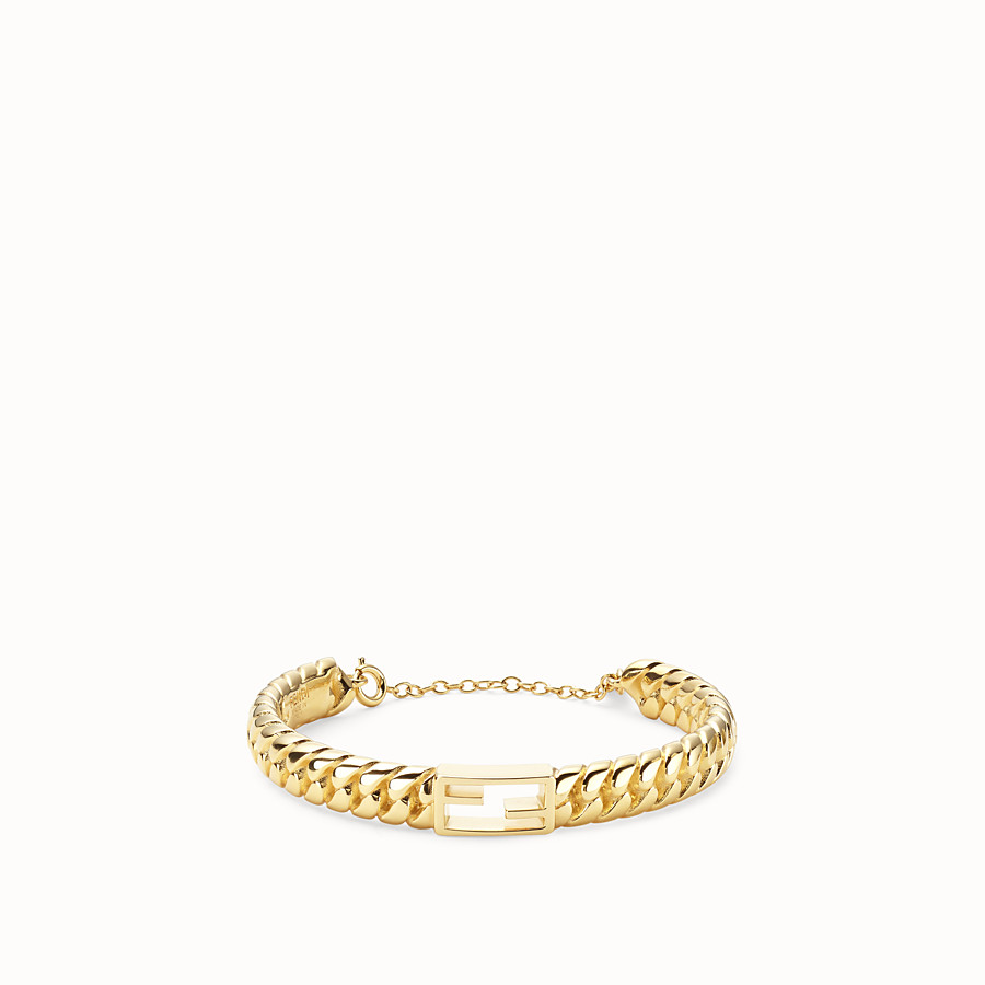 FENDI BAGUETTE BRACELET LARGE - Gold-colour bracelet - view 1 detail