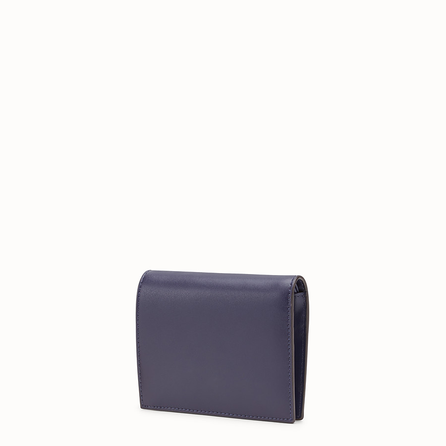 FENDI BIFOLD - Blue leather compact wallet - view 2 detail