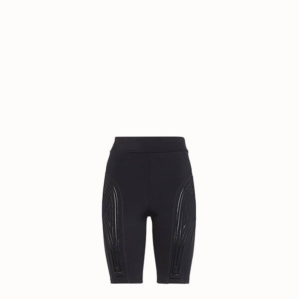 FENDI CYCLIST BERMUDAS - Black lycra shorts - view 1 small thumbnail