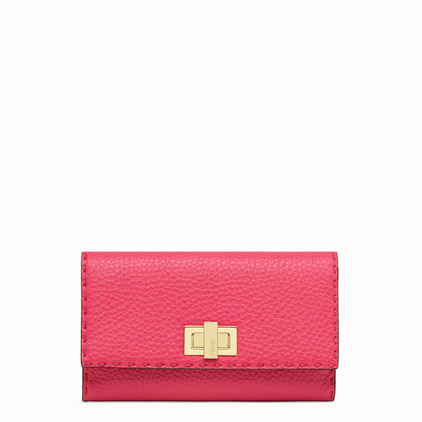 FENDI CARTERA CONTINENTAL - Cartera de piel fucsia - view 1 small thumbnail