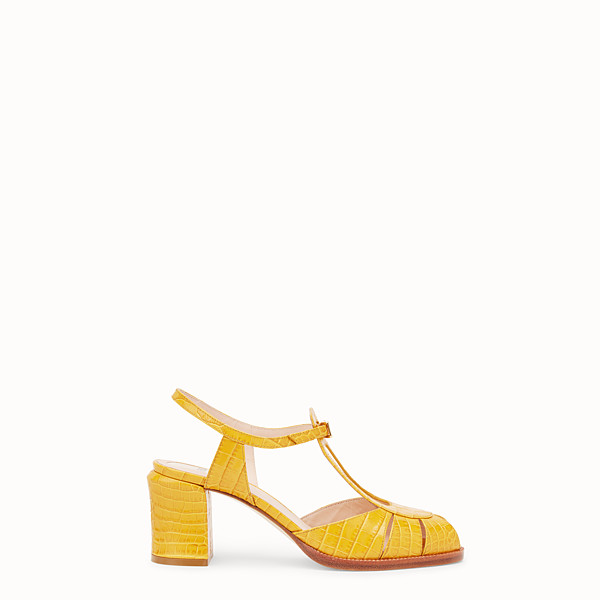 FENDI SANDALS - Yellow leather sandals - view 1 small thumbnail