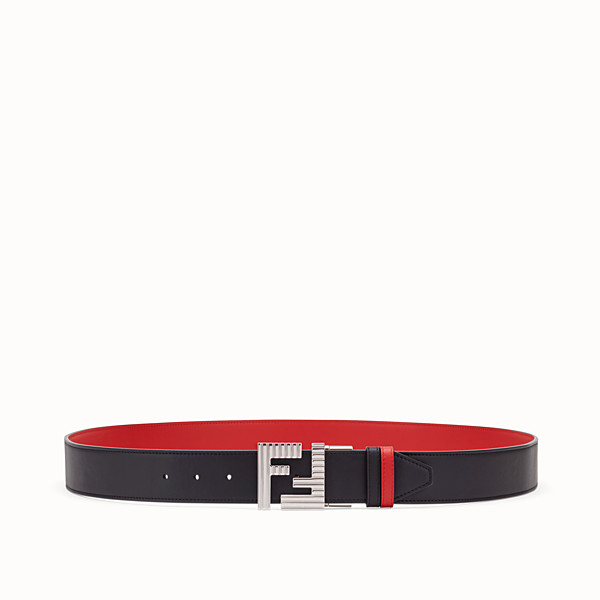 FENDI  - Black leather belt - view 1 small thumbnail