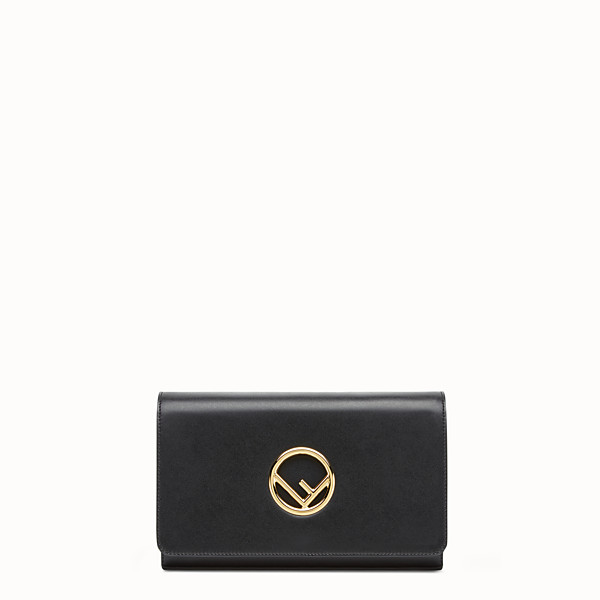 FENDI WALLET ON CHAIN - Black leather mini-bag - view 1 small thumbnail