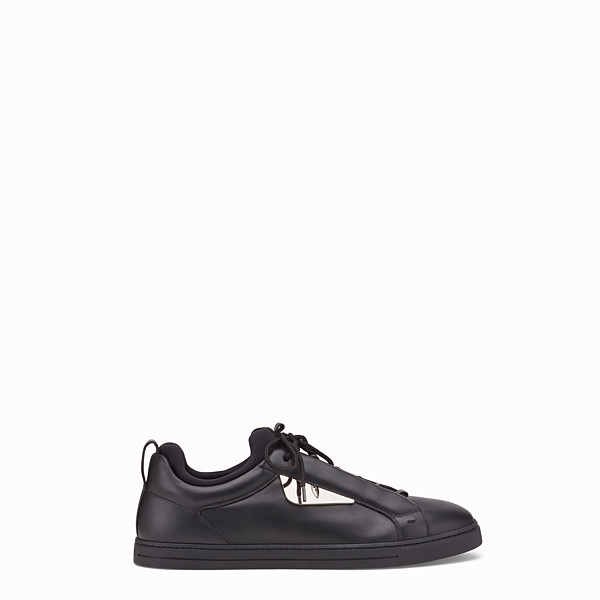 FENDI SNEAKER - black leather lace-ups - view 1 small thumbnail
