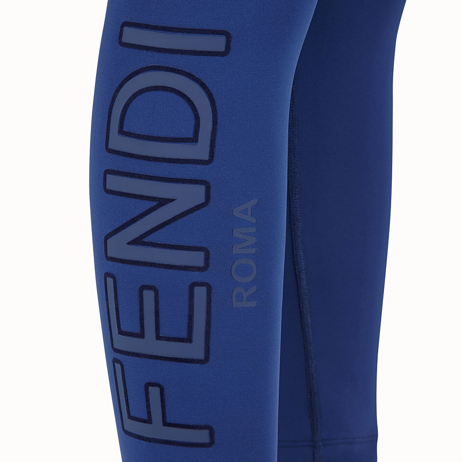 FENDI LEGGINGS - Blue tech fabric pants - view 3 detail