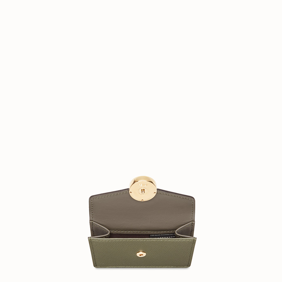 FENDI MICRO TRIFOLD - Green leather wallet - view 3 detail
