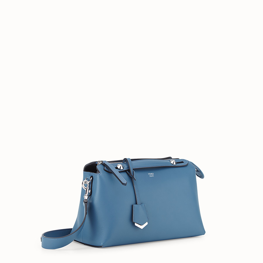 FENDI BY THE WAY REGULAR - Blue leather Boston bag - view 2 detail