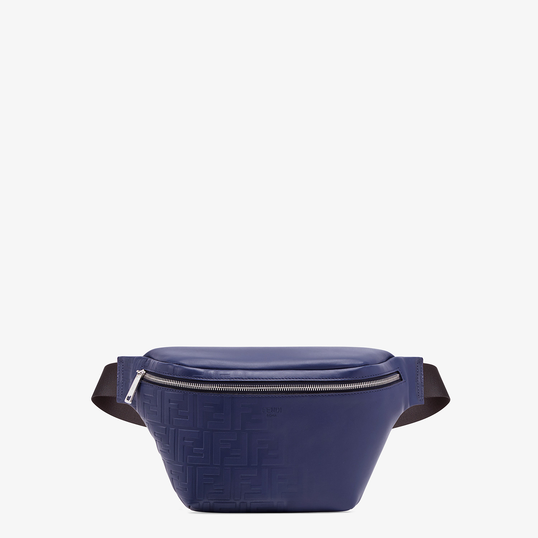 FENDI BELT BAG - Blue calf leather belt bag - view 1 detail