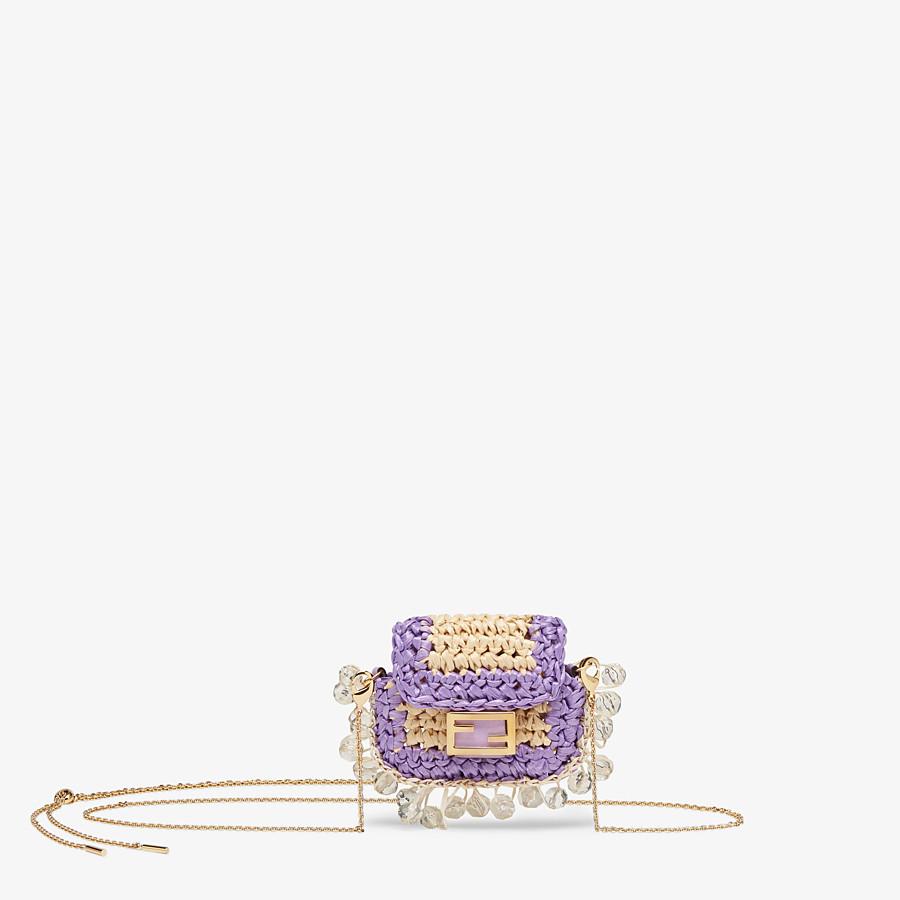 FENDI PICO BAGUETTE CHARM - Lilac raffia charm - view 1 detail