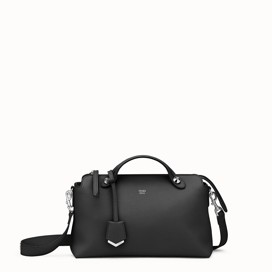 FENDI BY THE WAY MEDIUM - Small Boston bag in black leather - view 1 detail