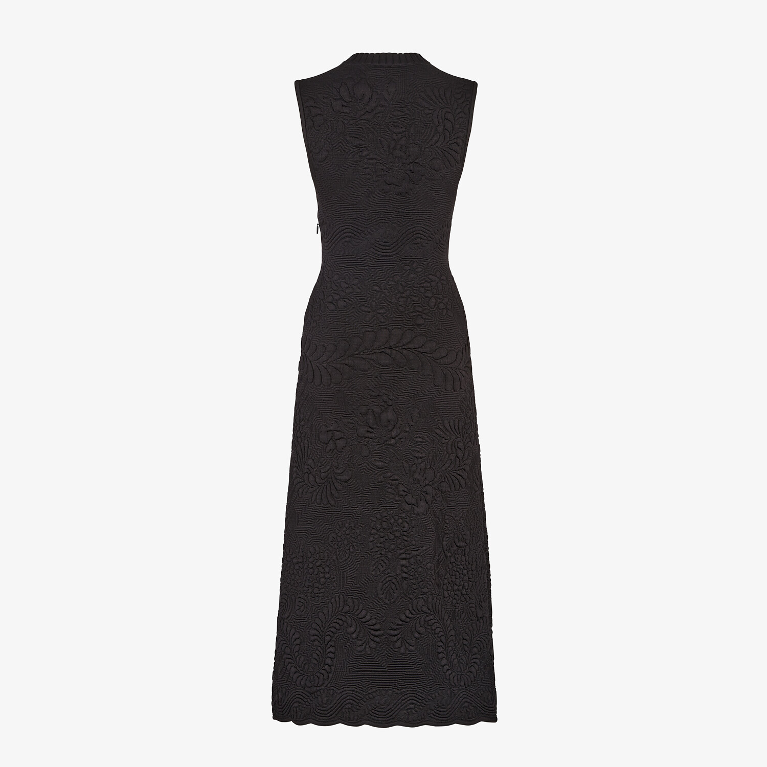 FENDI DRESS - Black viscose dress - view 2 detail