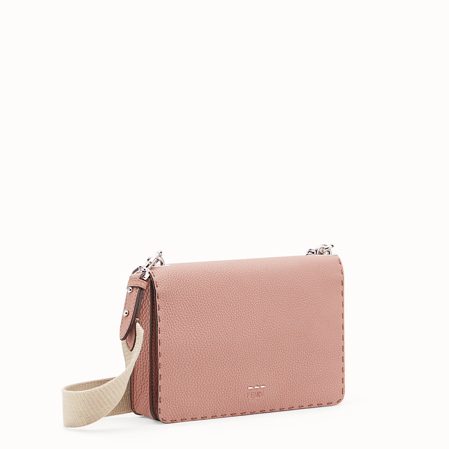FENDI MESSENGER - Pink leather messenger - view 2 detail