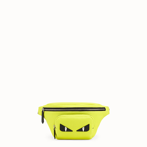 FENDI BELT BAG - Yellow Romano leather belt bag - view 1 small thumbnail