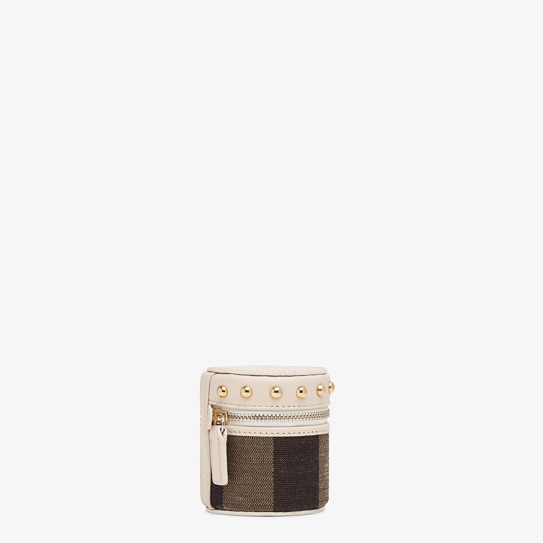 FENDI MINI SLIPCASE - Brown jacquard box - view 2 detail