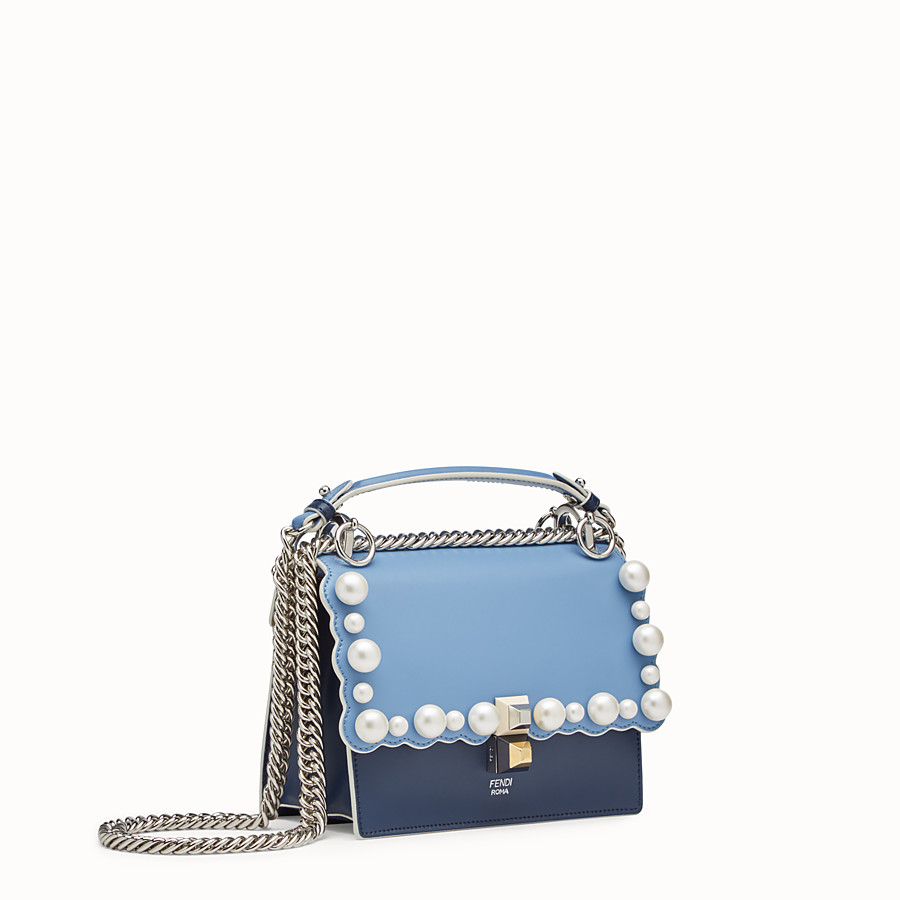 FENDI KAN I SMALL - Multicolour leather mini-bag - view 2 detail
