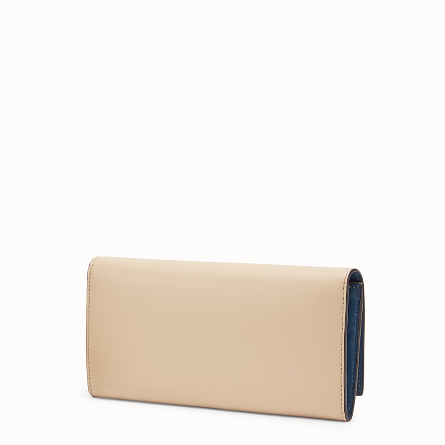 FENDI CONTINENTAL - Beige leather wallet - view 2 detail